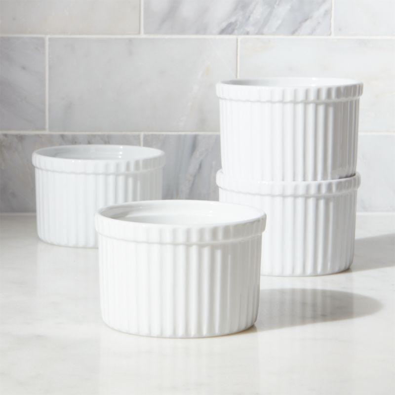 set of 4 tall ramekins reviews crate and barrel. Black Bedroom Furniture Sets. Home Design Ideas
