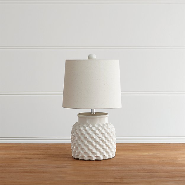 Rati Small White Table Lamp - Image 1 of 10