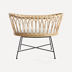 Crate And Kids Rattan Bassinet