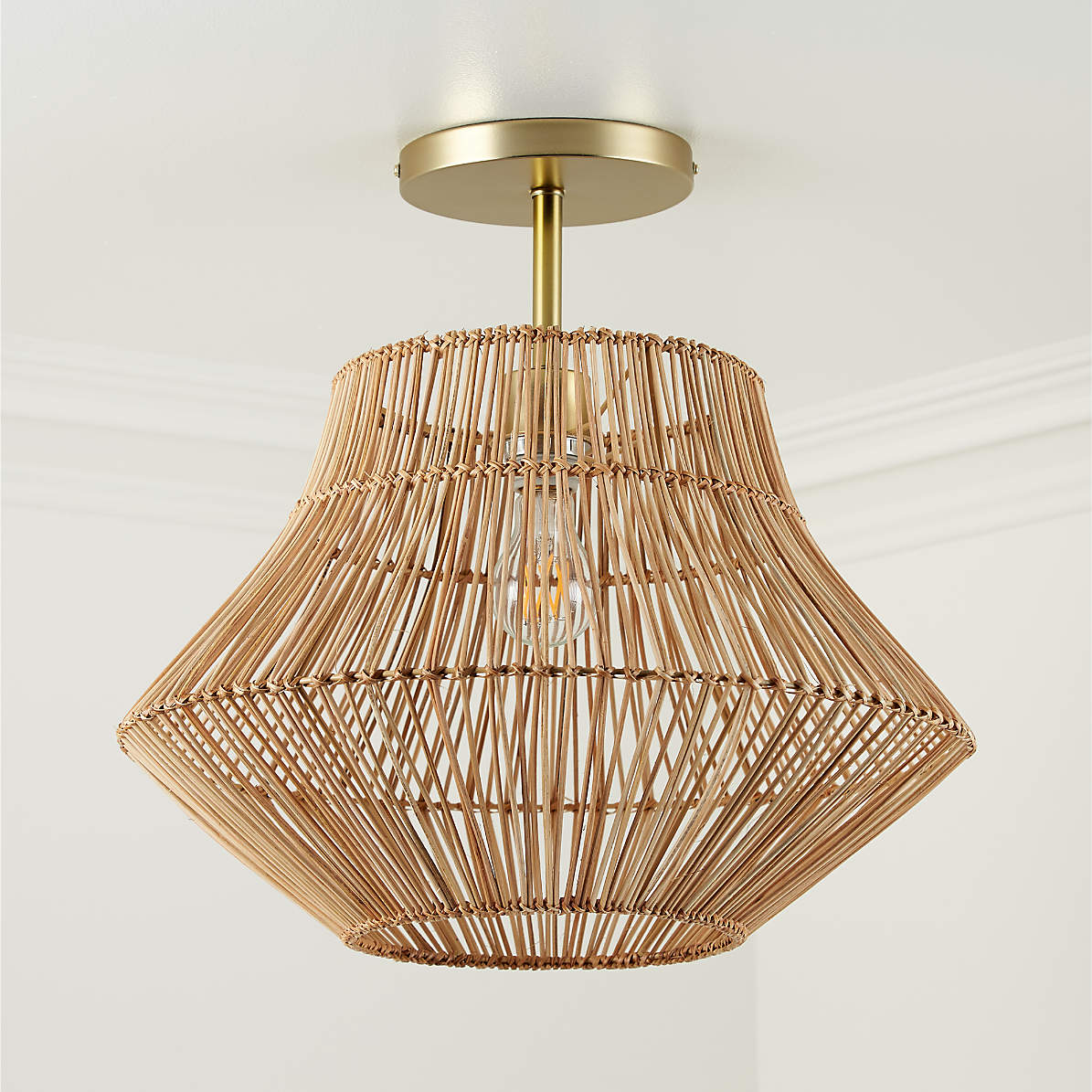 Rattan Ceiling Light Reviews Crate And Barrel Canada