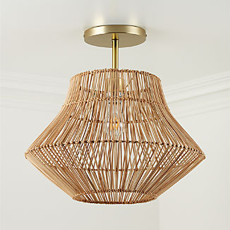 Rattan Ceiling Light