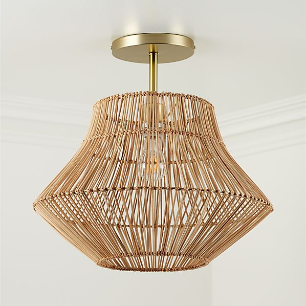 Rattan Ceiling Light Reviews Crate
