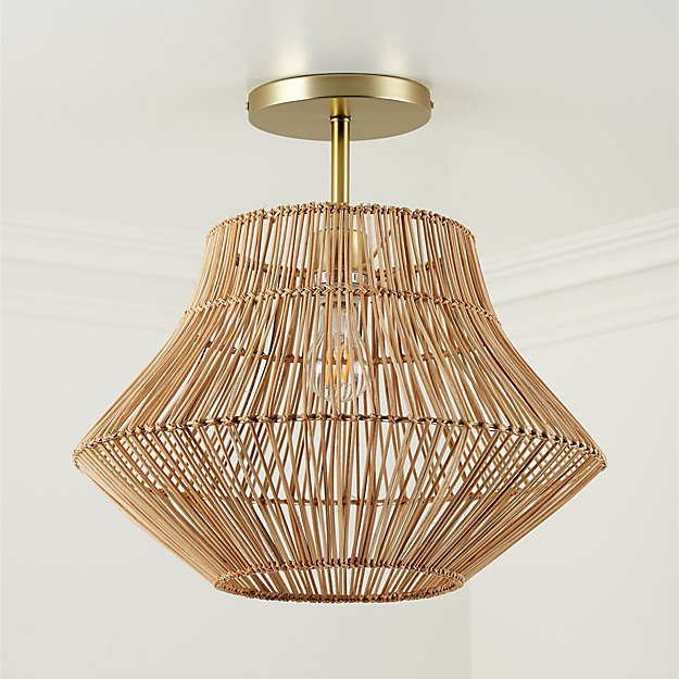 Rattan Ceiling Light - Image 1 of 5