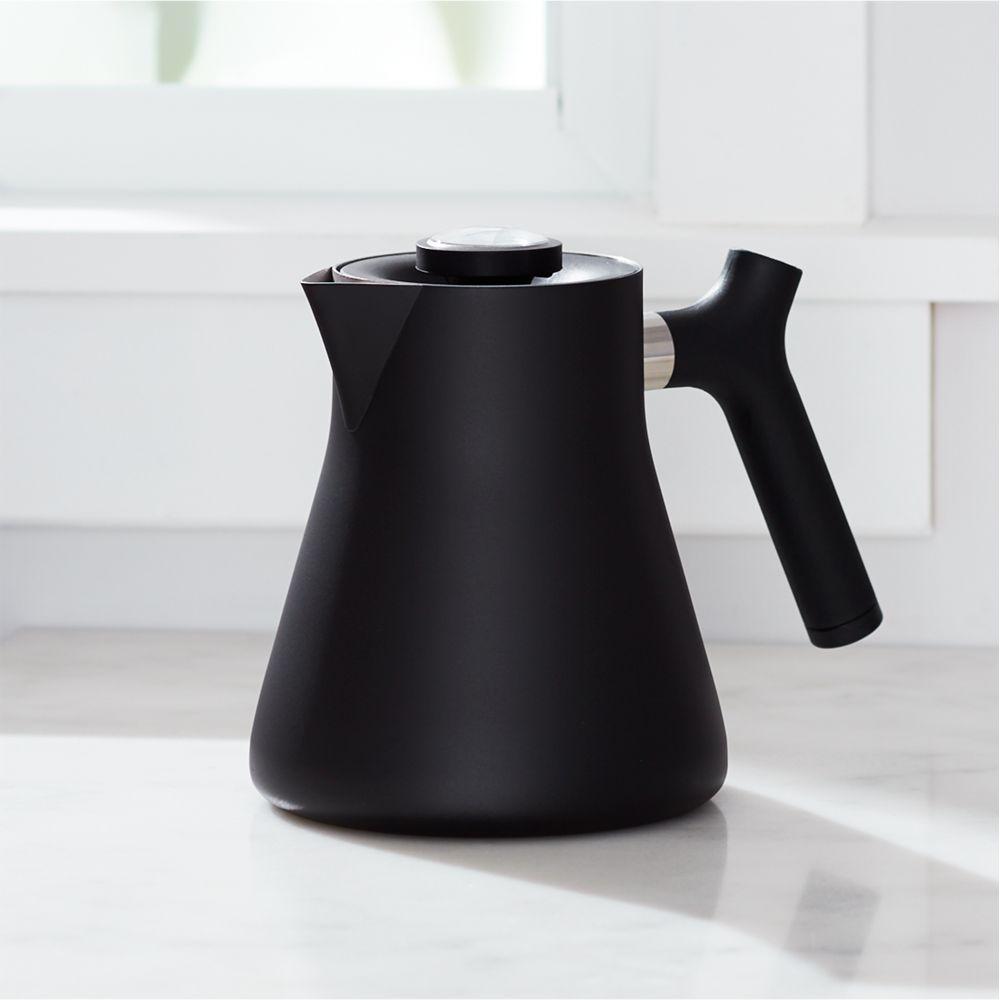 Raven Matte Black Tea Kettle - Crate and Barrel