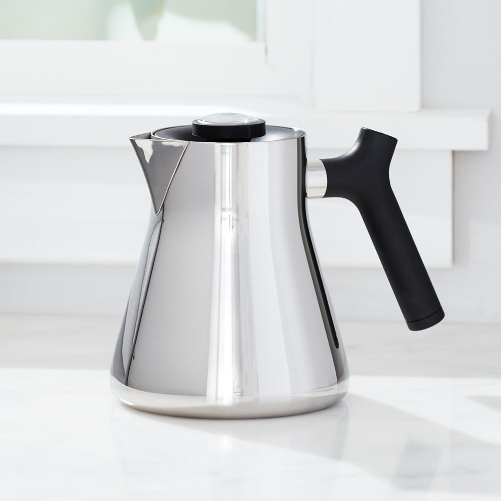 Raven Polished Stainless Steel Tea Kettle - Crate and Barrel