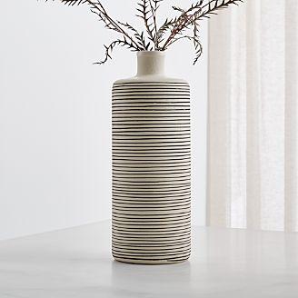 Raya Cream Bottle Vase Gallery