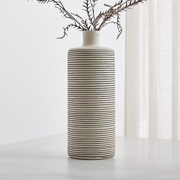 Raya Cream Bottle Vase - Image 1 of 4
