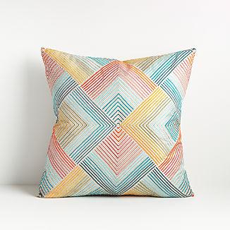 "Rayi Multicolor Throw Pillow 18"""