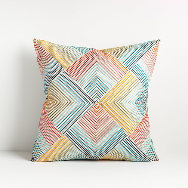 """Rayi Multicolor Throw Pillow 18"""" - Image 1 of 7"""
