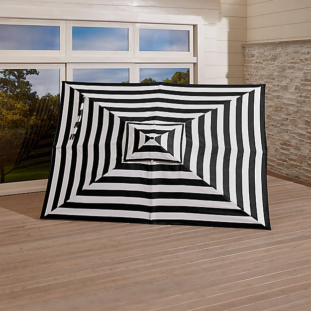 Rectangular Sunbrella ® Black Cabana Stripe Umbrella Canopy - Image 1 of 2