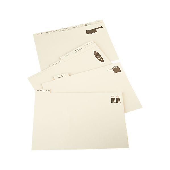 Set of 12 Recipe Divider Cards