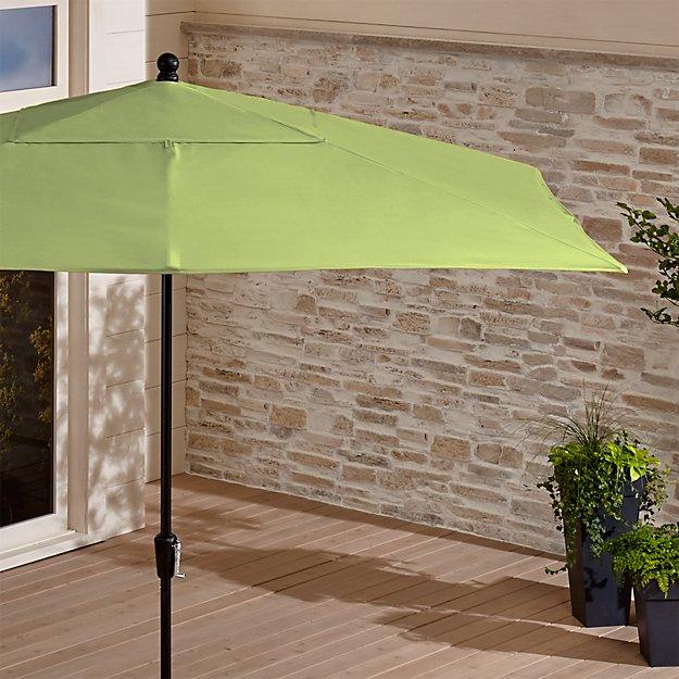 Rectangular Sunbrella ® Kiwi Patio Umbrella with Black Frame