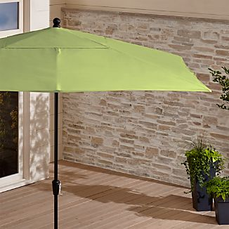 Rectangular Sunbrella ® Kiwi Patio Umbrella with Black Frame