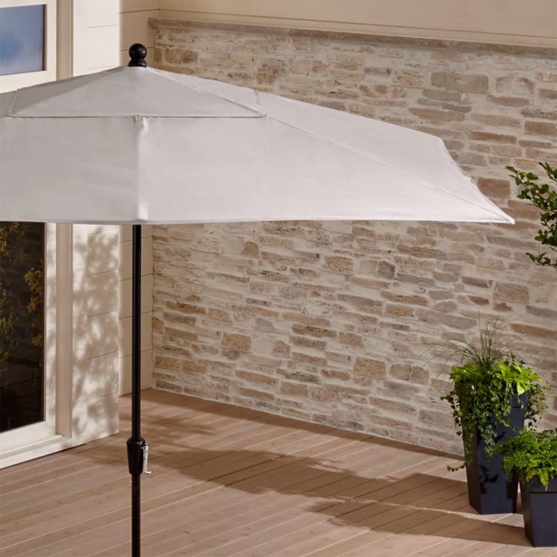 Black And White Patio Umbrella In Patio Umbrellas + Reviews | Crate And  Barrel