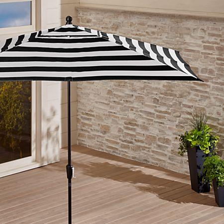 Black Cabana Stripe Patio Umbrella