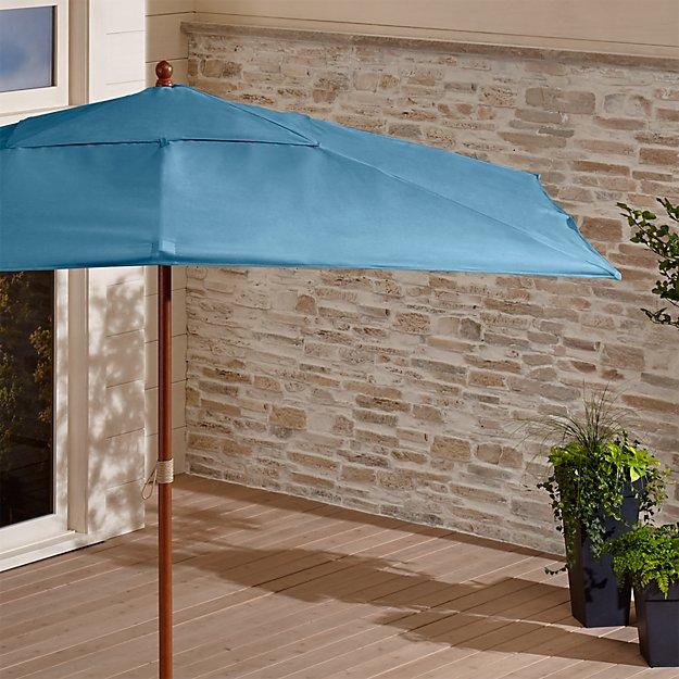 Rectangular Sunbrella ® Sapphire Patio Umbrella with FSC Eucalyptus Frame - Image 1 of 3