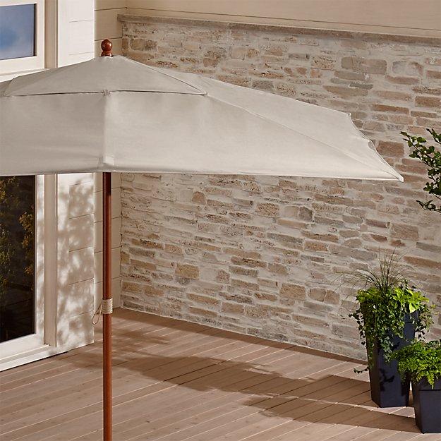 Rectangular Sunbrella ® Stone Patio Umbrella with Eucalyptus Frame - Image 1 of 7