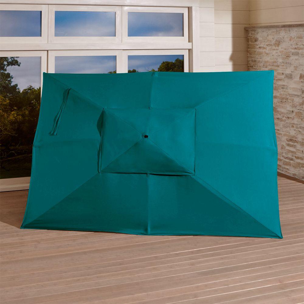 Rectangular Sunbrella ® Bold Turquoise Umbrella Canopy