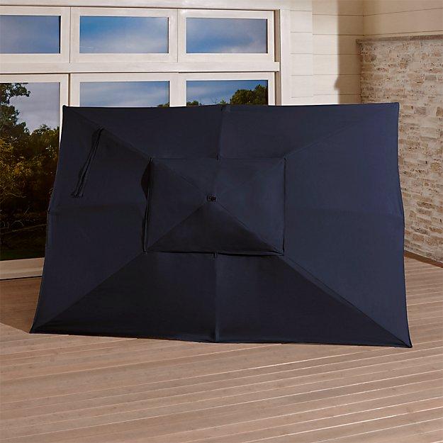 Rectangular Sunbrella ® Dark Navy Umbrella Canopy