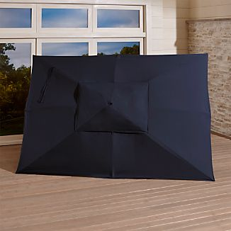 Rectangular Sunbrella ® Dark Navy Umbrella Canopy