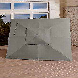 Rectangular Sunbrella ® Graphite Umbrella Canopy
