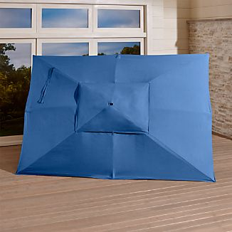 Rectangular Sunbrella ® Mediterranean Blue Umbrella Canopy