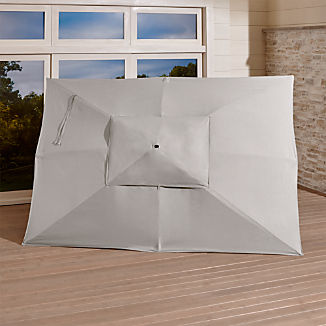 Rectangular Sunbrella ® Silver Umbrella Canopy