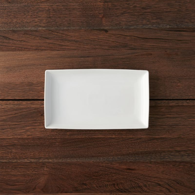 Rectangular 10 x5.75  Plate & Dessert Plates u0026 Appetizer Plates | Crate and Barrel