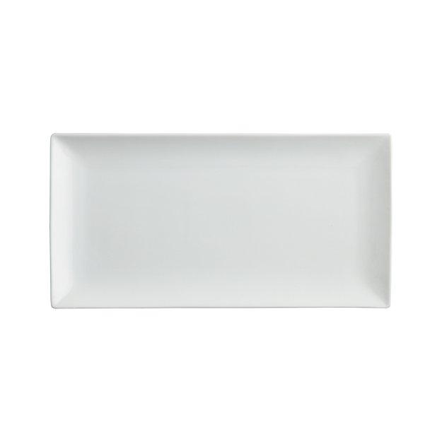 White Recantgular Platter Reviews Crate And Barrel
