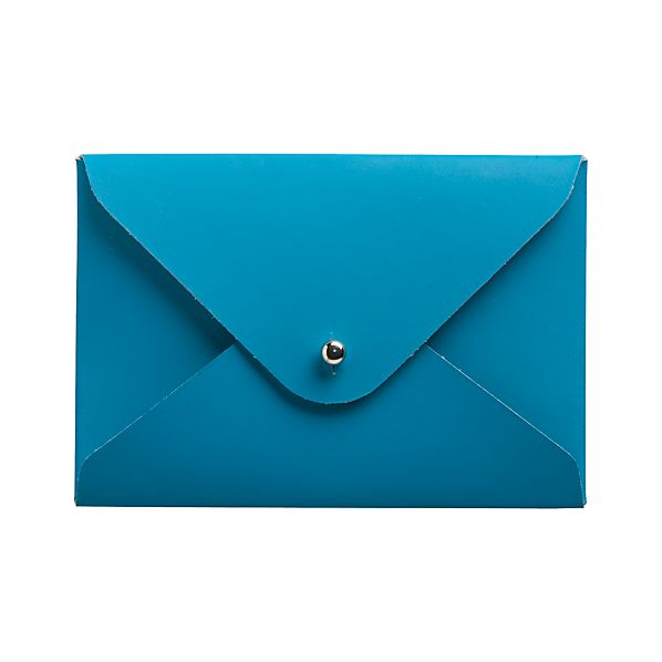 Recycled Leather Aqua Cardholder