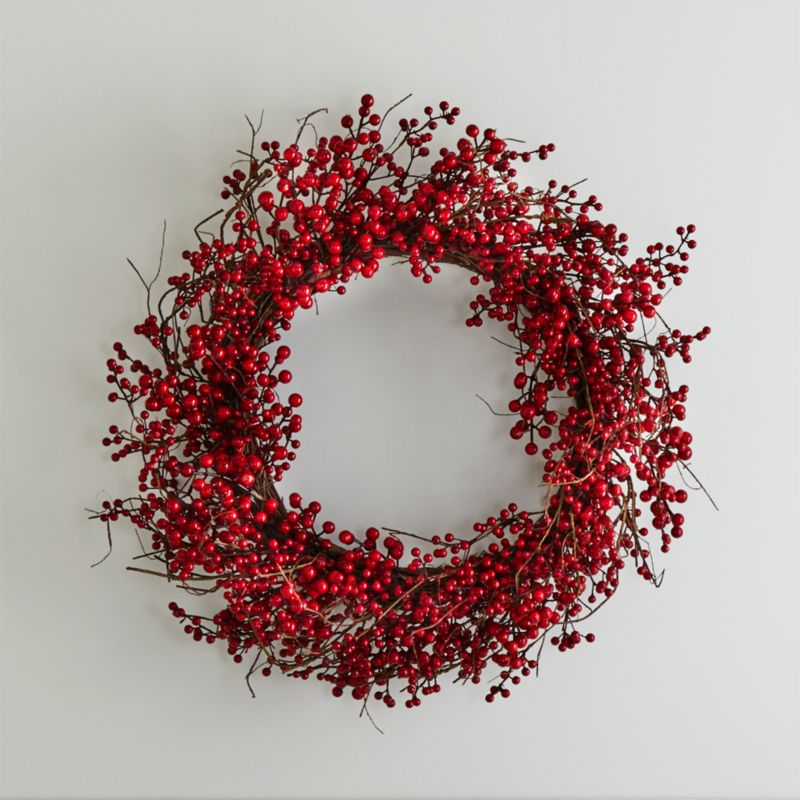 Red Berry Wreath Reviews Crate And Barrel