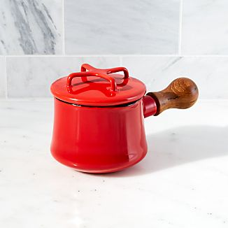 Red Butter Warmer with Lid