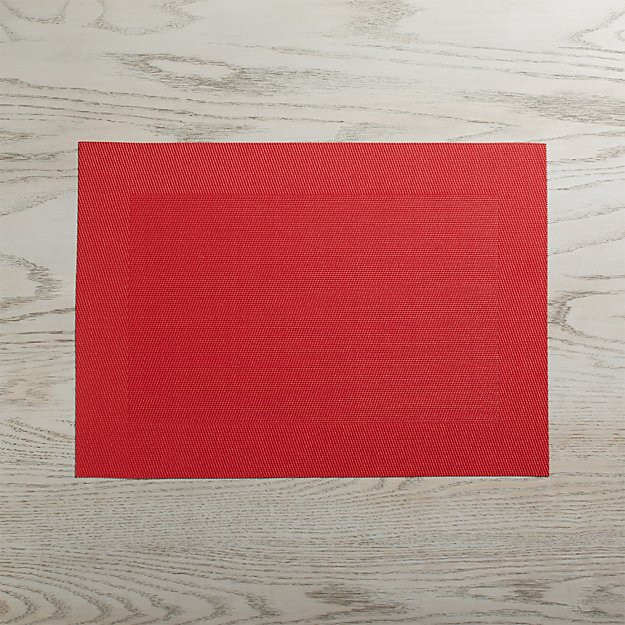 Red Easy Care Placemat