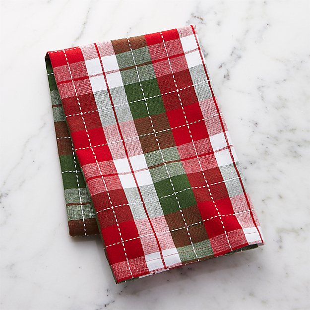 Stitched Check Dish Towel