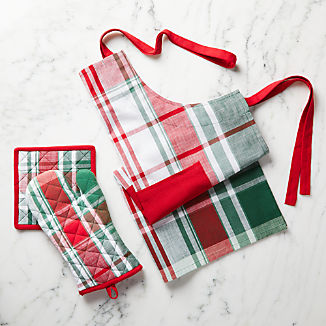 Red and Green Plaid Kitchen Textiles