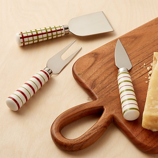 Red and Green Cheese Tool Set - Image 1 of 3