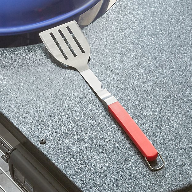 Red Grip BBQ Spatula with Bottle Opener