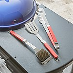 Red Grip 3-Piece BBQ Tool Set