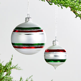 Large Striped Ornament