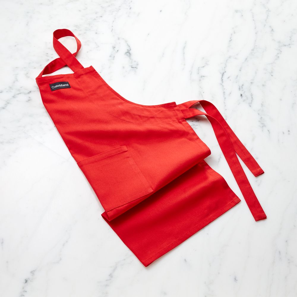 Red Kid's Apron - Crate and Barrel