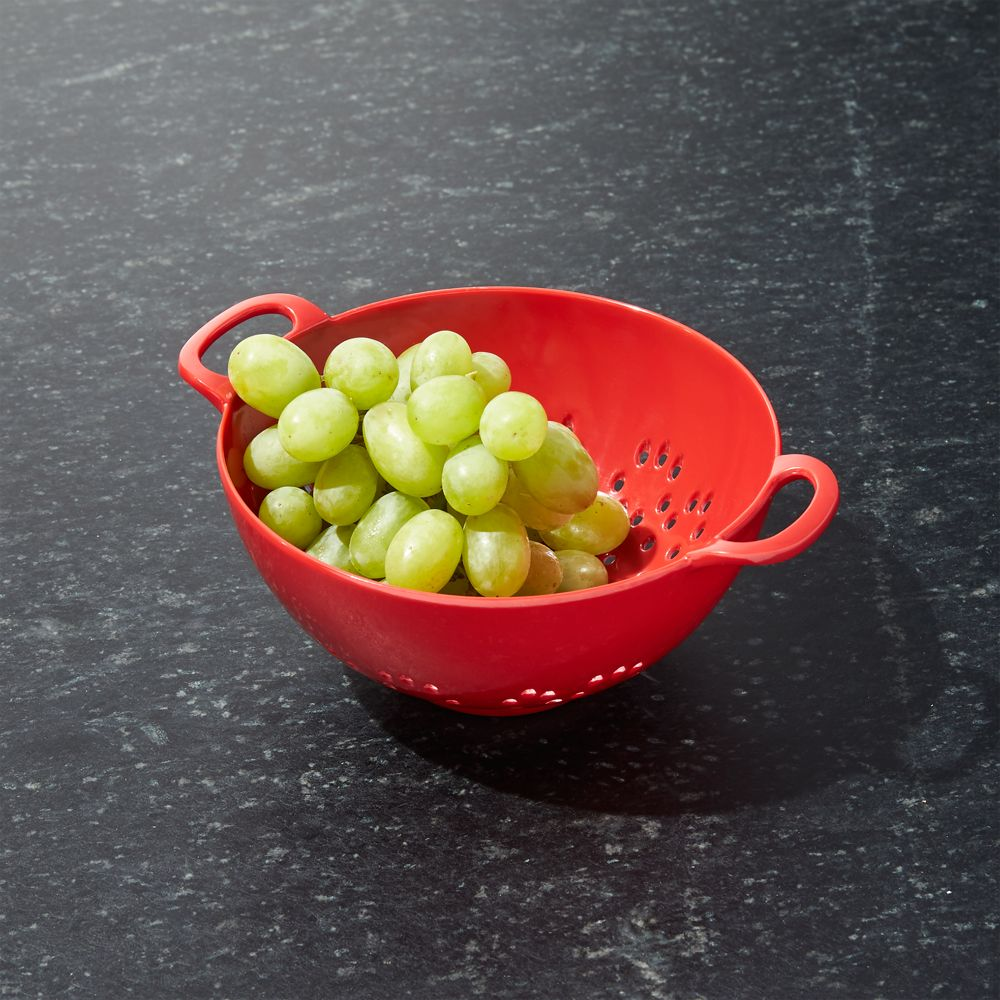 Red Mini Colander - Crate and Barrel
