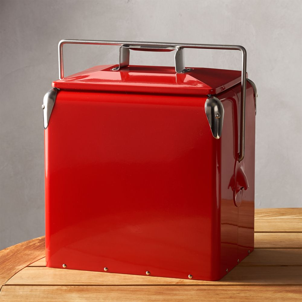 Red Picnic Cooler - Crate and Barrel