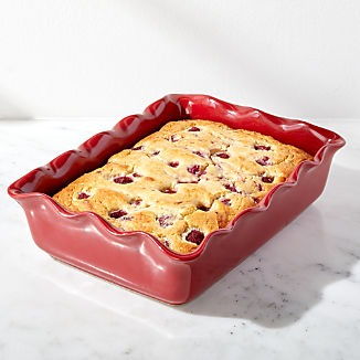 Red Ruffled 9x13 Baking Dish