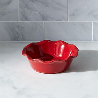 Red Ruffled Individual Pie Dish