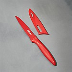 Zyliss ® Serrated Red 4  Paring Knife