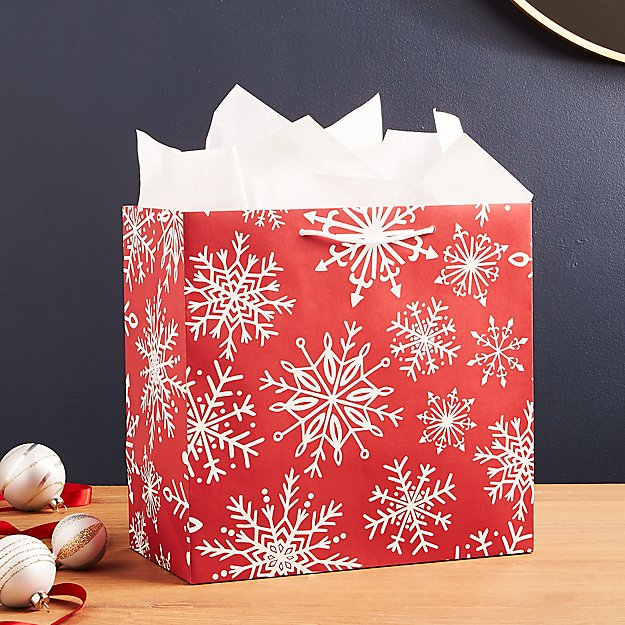 Red Snowflake Large Gift Bag