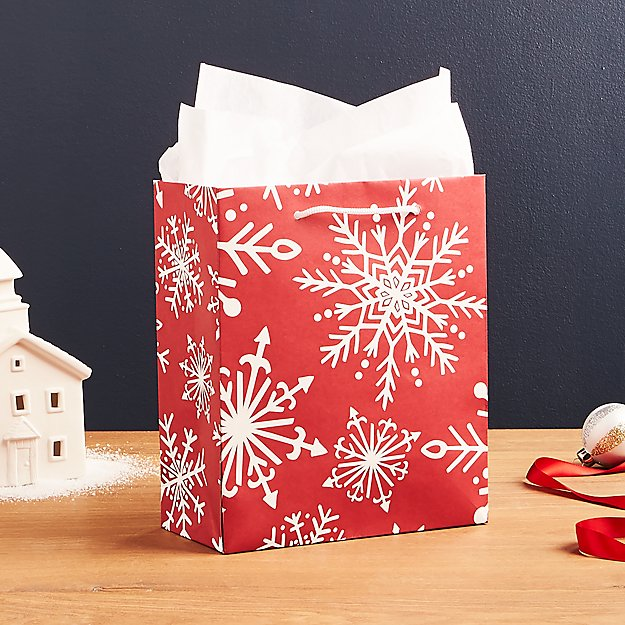 Red Snowflake Medium Gift Bag