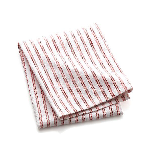 Red Stripe Dish Towel