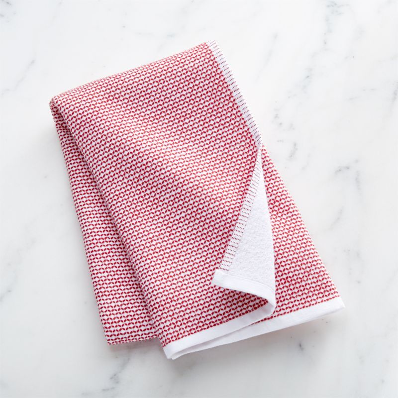 Red Textured Terry Dish Towel