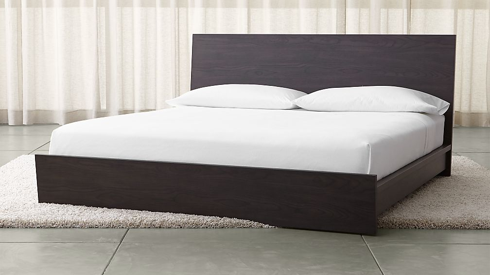 reed king bed + reviews   crate and barrel